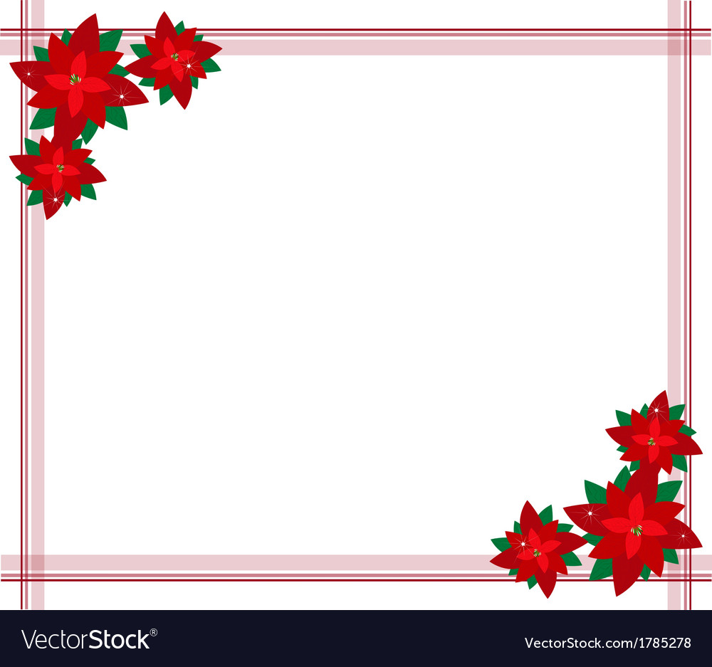 Poinsettia flowers forming a christmas border vector by Iamnees ...
