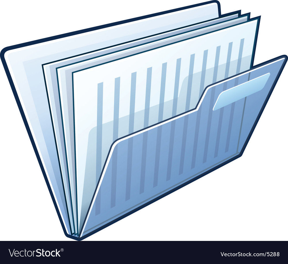 Folder with documents vector