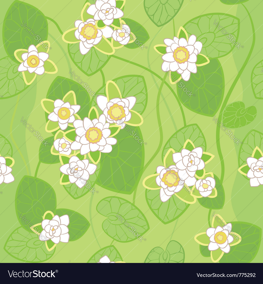 White lotus background vector