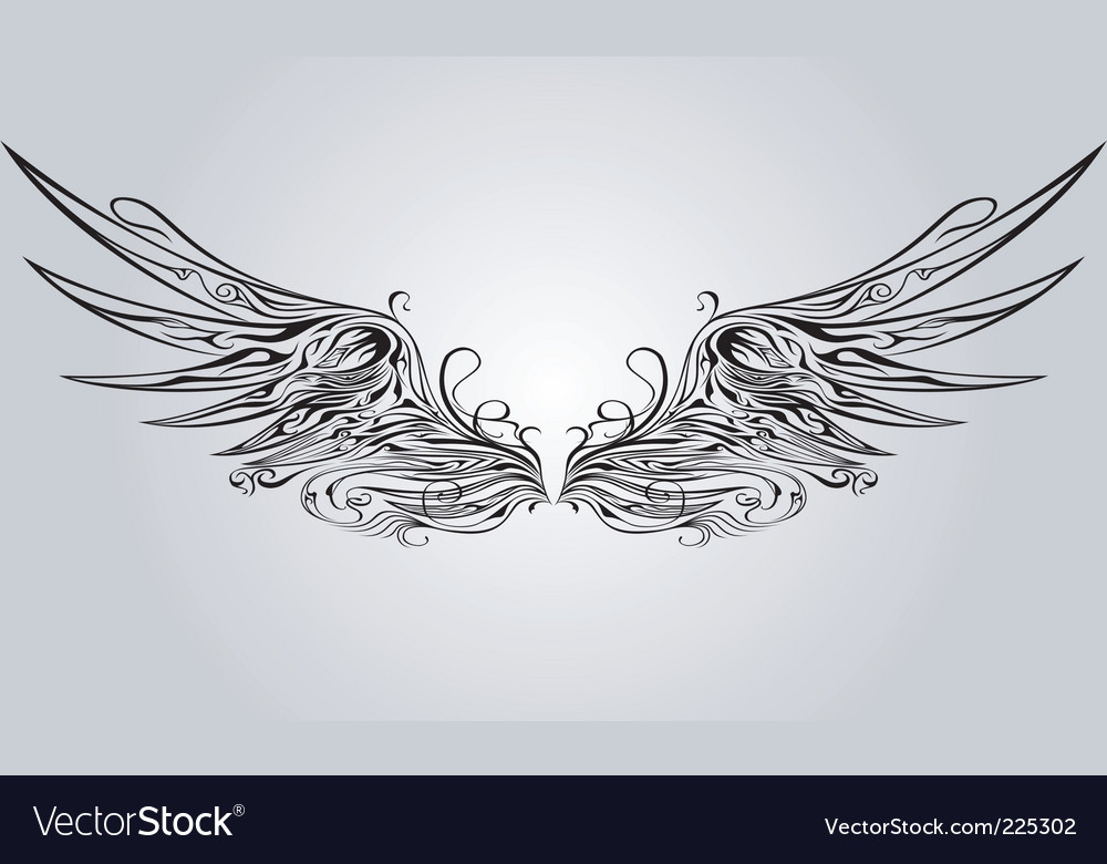 Ornamental wing vector