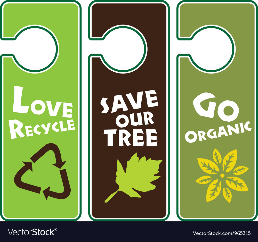 Ecological awareness vector