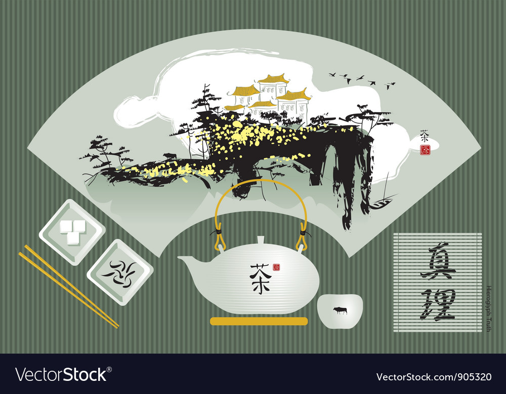 Tea set vector
