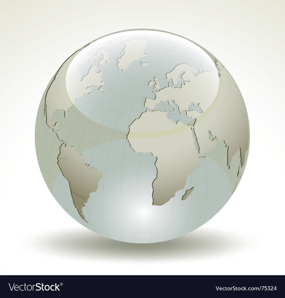 3d earth glossy sphere vector