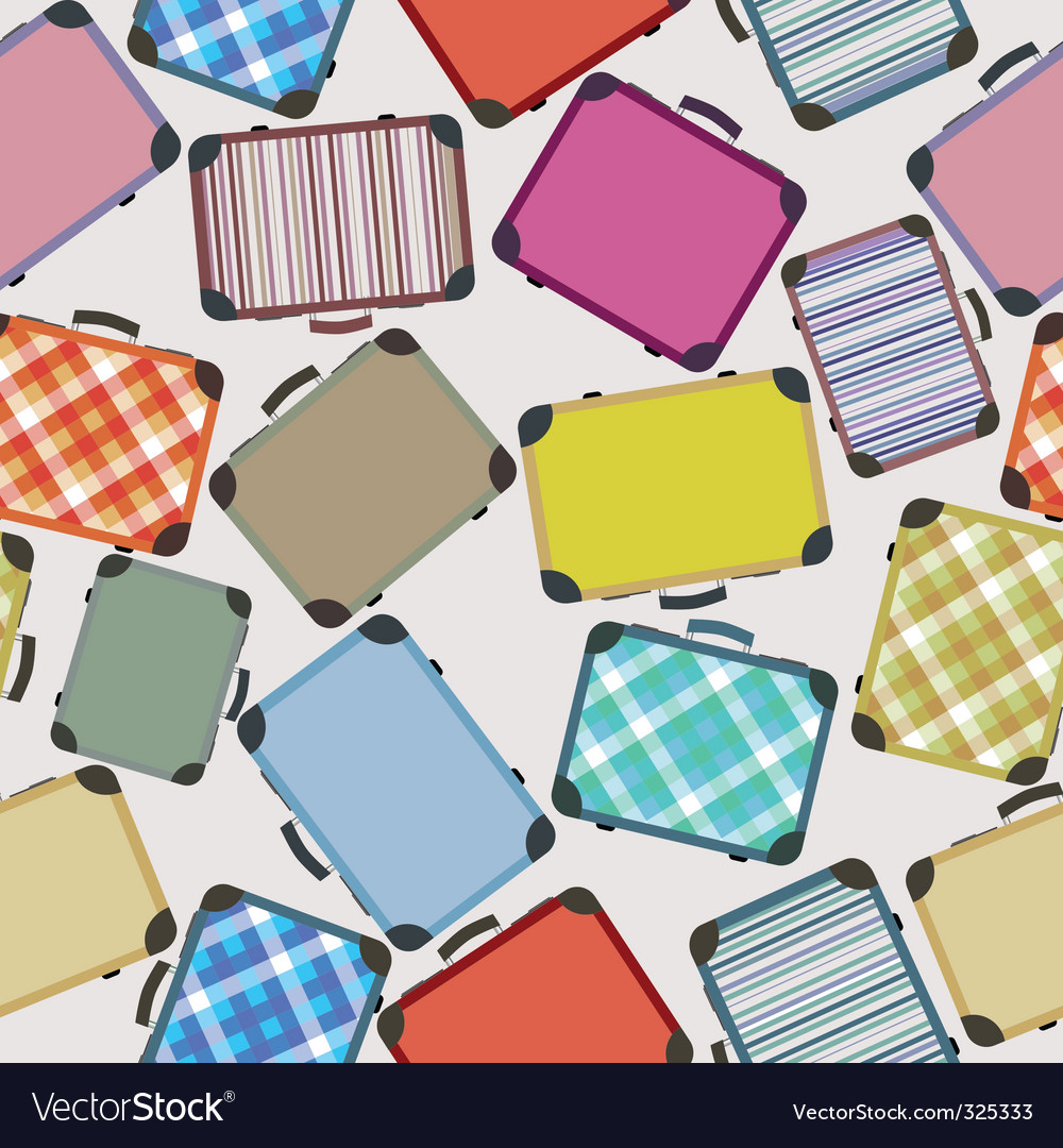 Luggage pattern vector