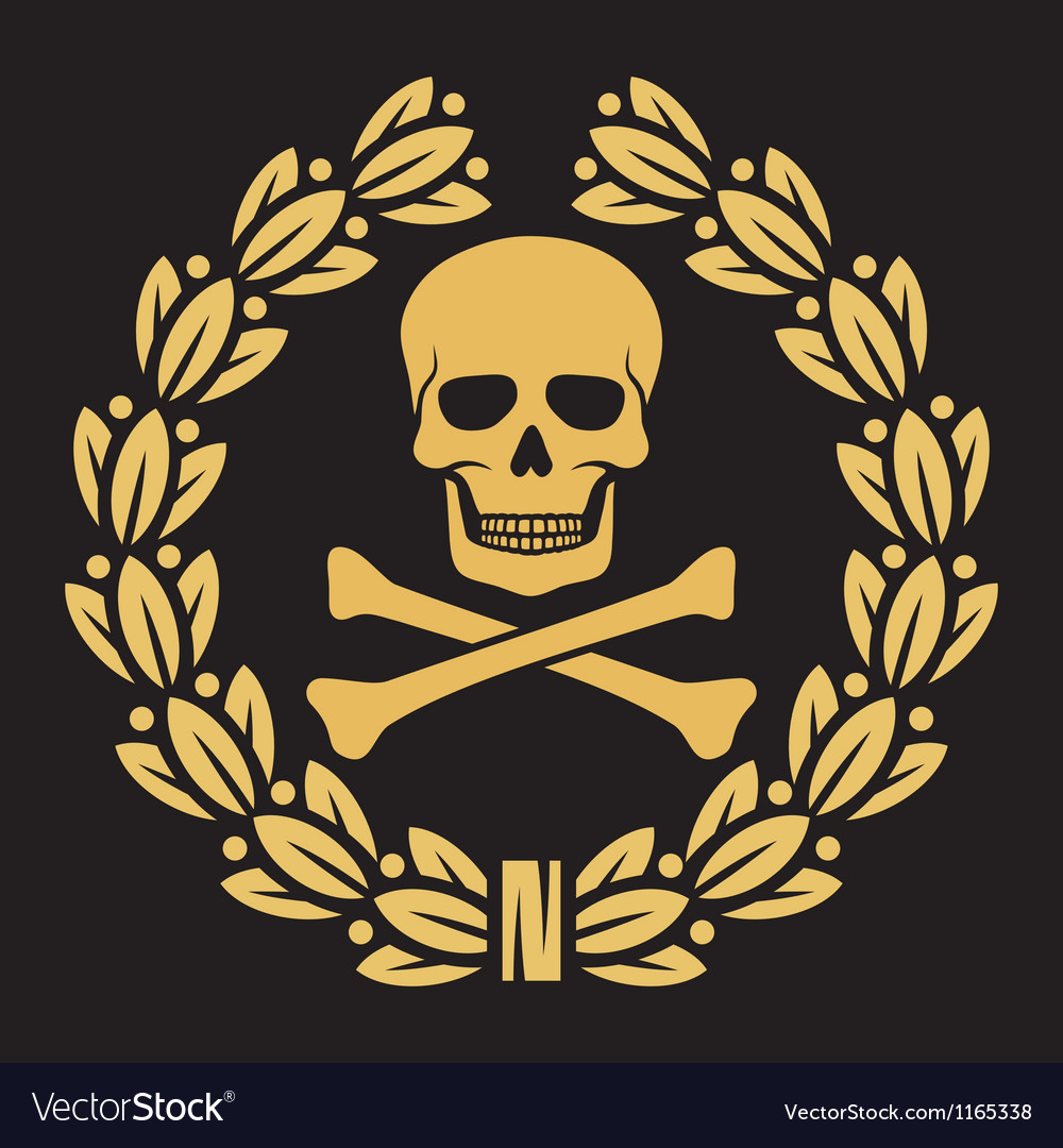 Skull and cross bones vector