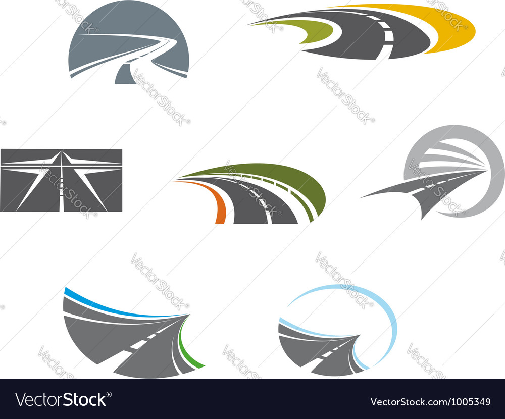 Road symbols and pictograms vector