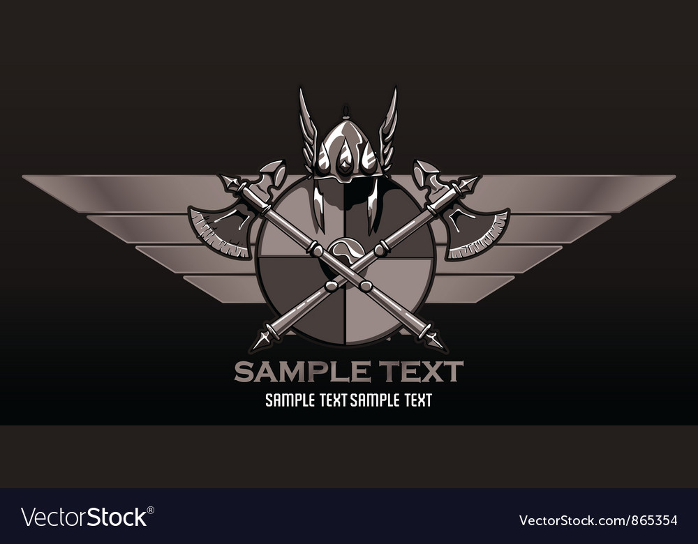Free vintage crest with wings vector