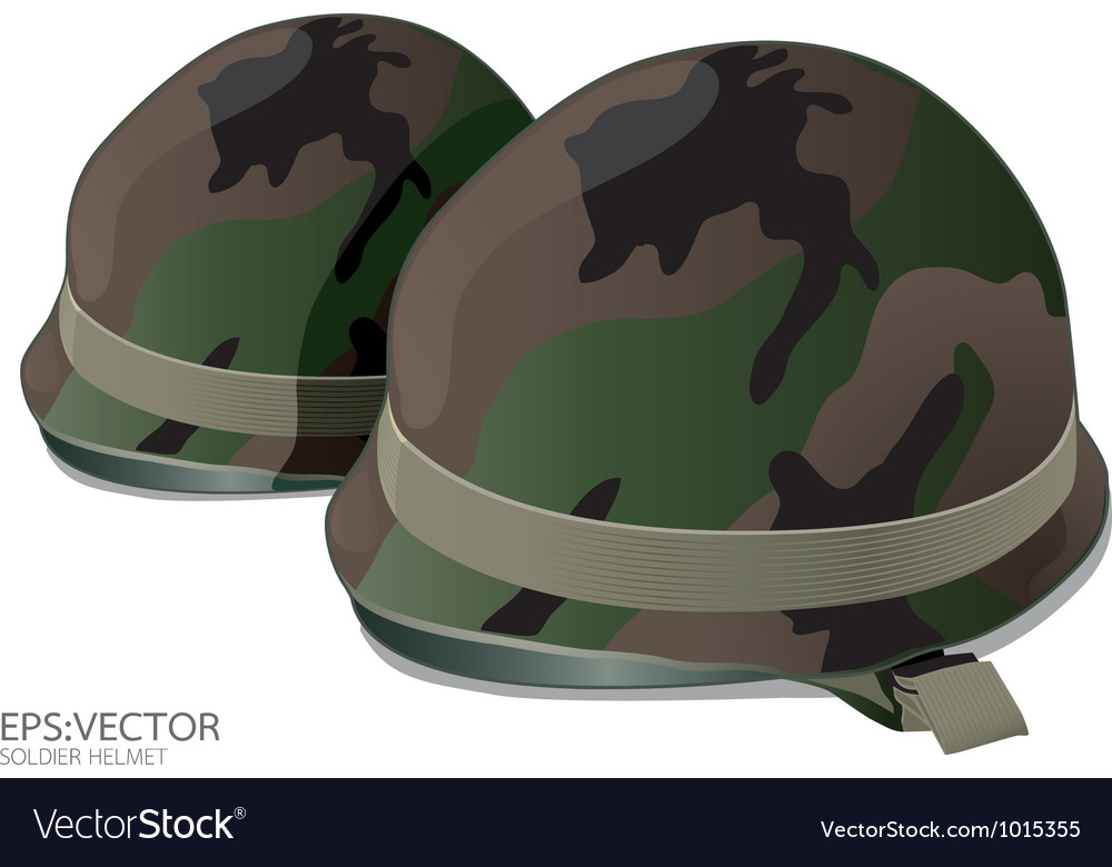 Soldier helmet vector
