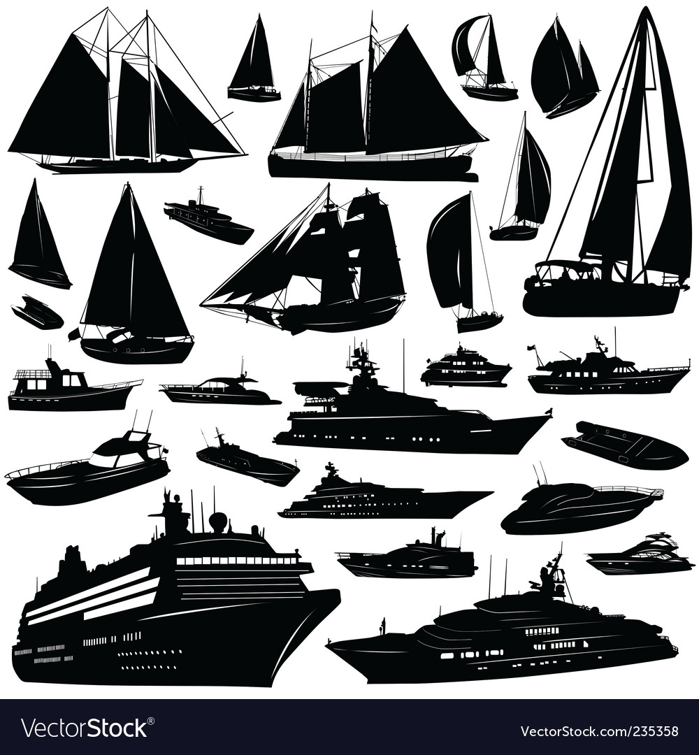 Sea transportation vector