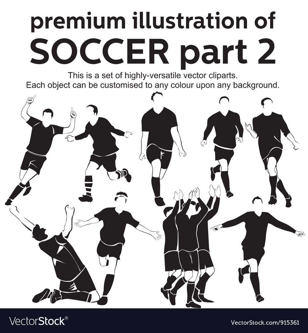 Premium soccer part 2 vector