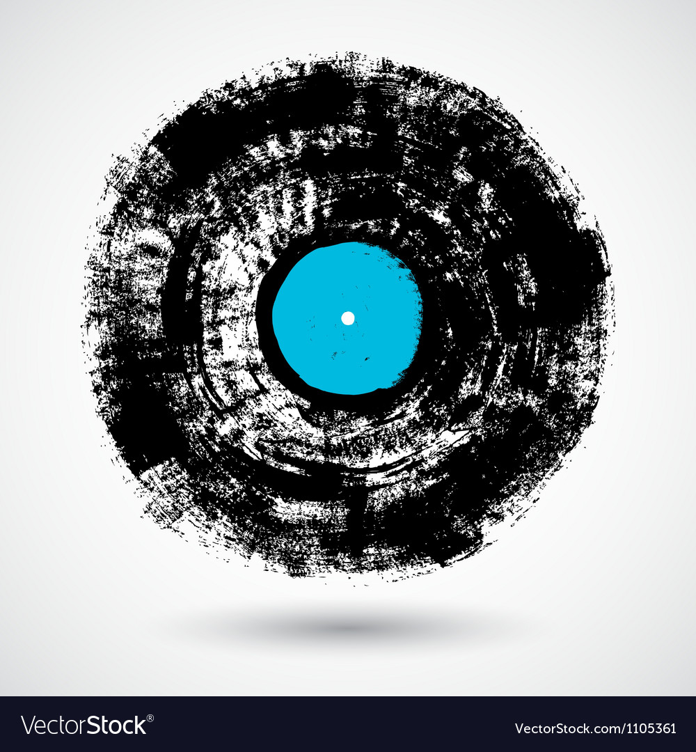 Retro musical grunge vinyl vector