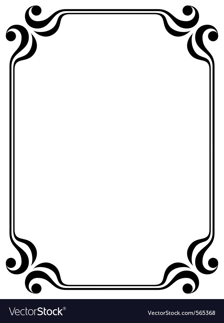 Filigree frame vector by 100ker - Image #565368 - VectorStock