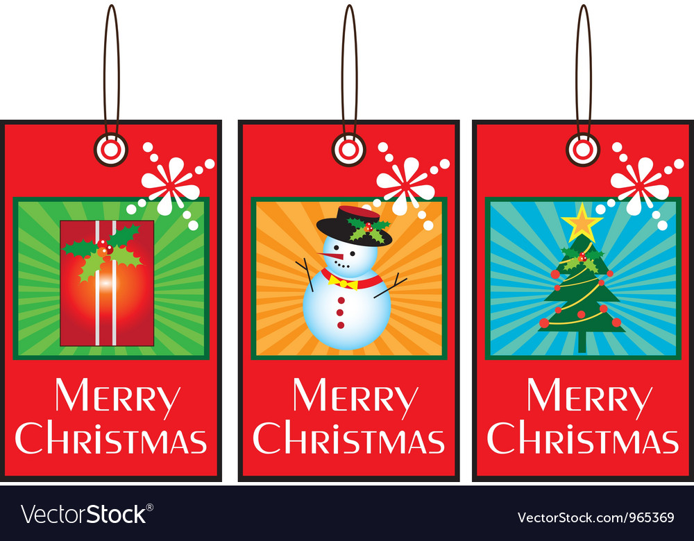 Christmas swing tags vector