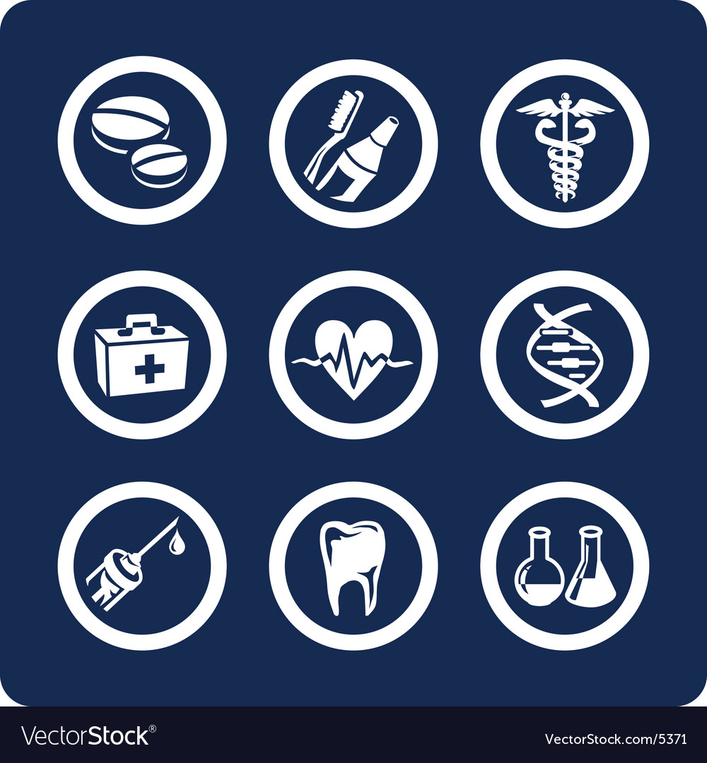 Medicine and health icons vector