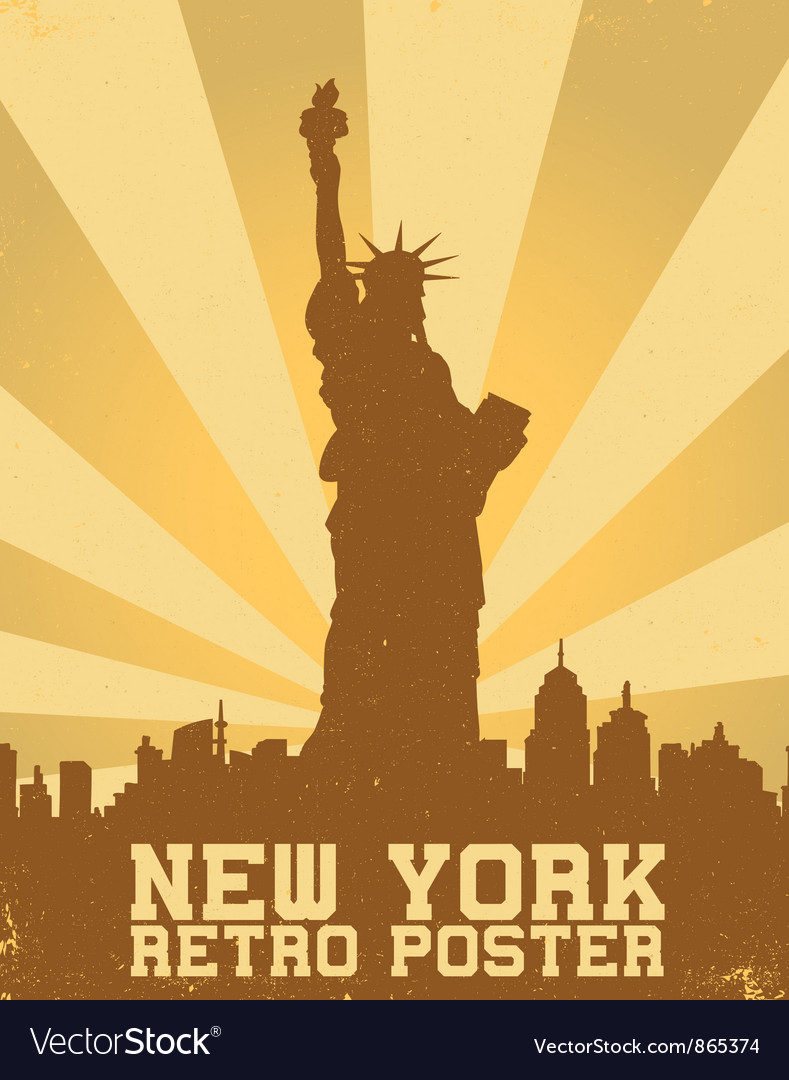 Free retro new york background vector