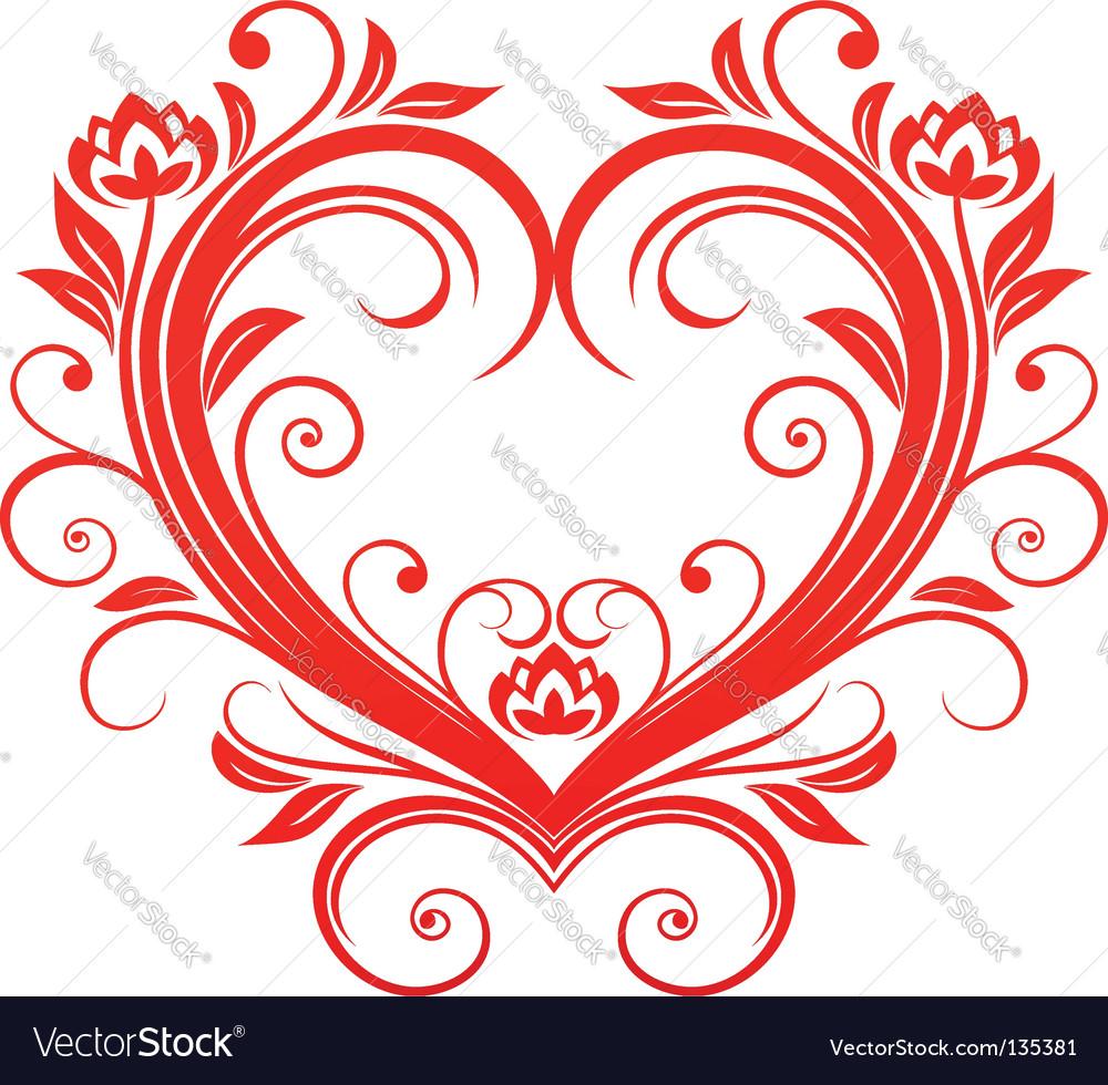 Valentine heart vector by Seamartini - Image #135381 - VectorStock