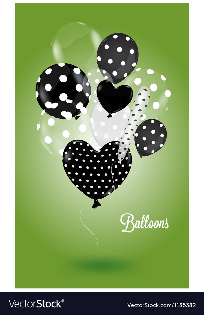 Green background with black and white balls vector