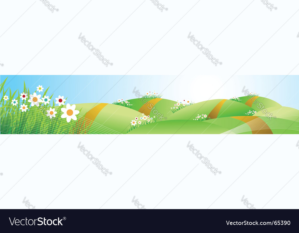 Spring meadow vector