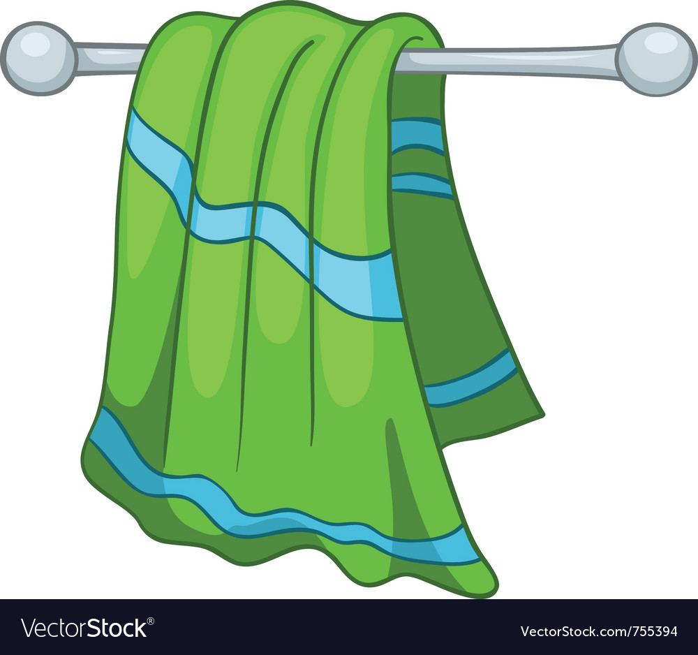 Cartoon home kitchen towel vector
