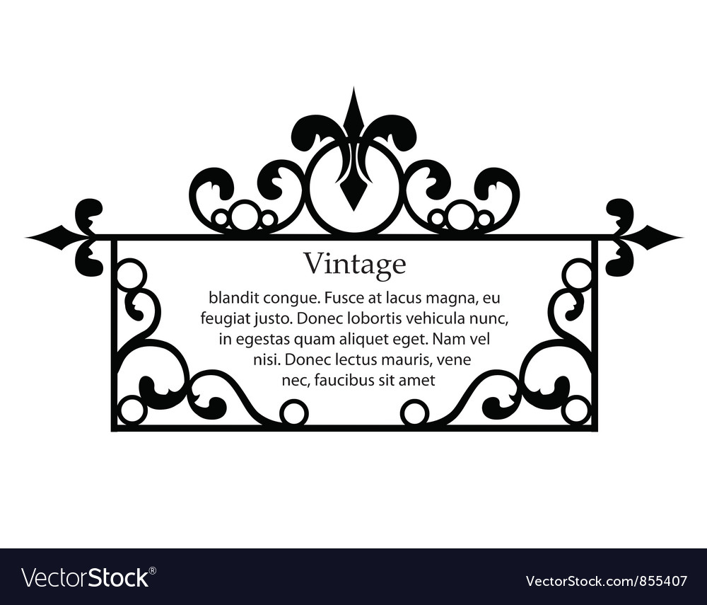 Free wrought iron frame vector
