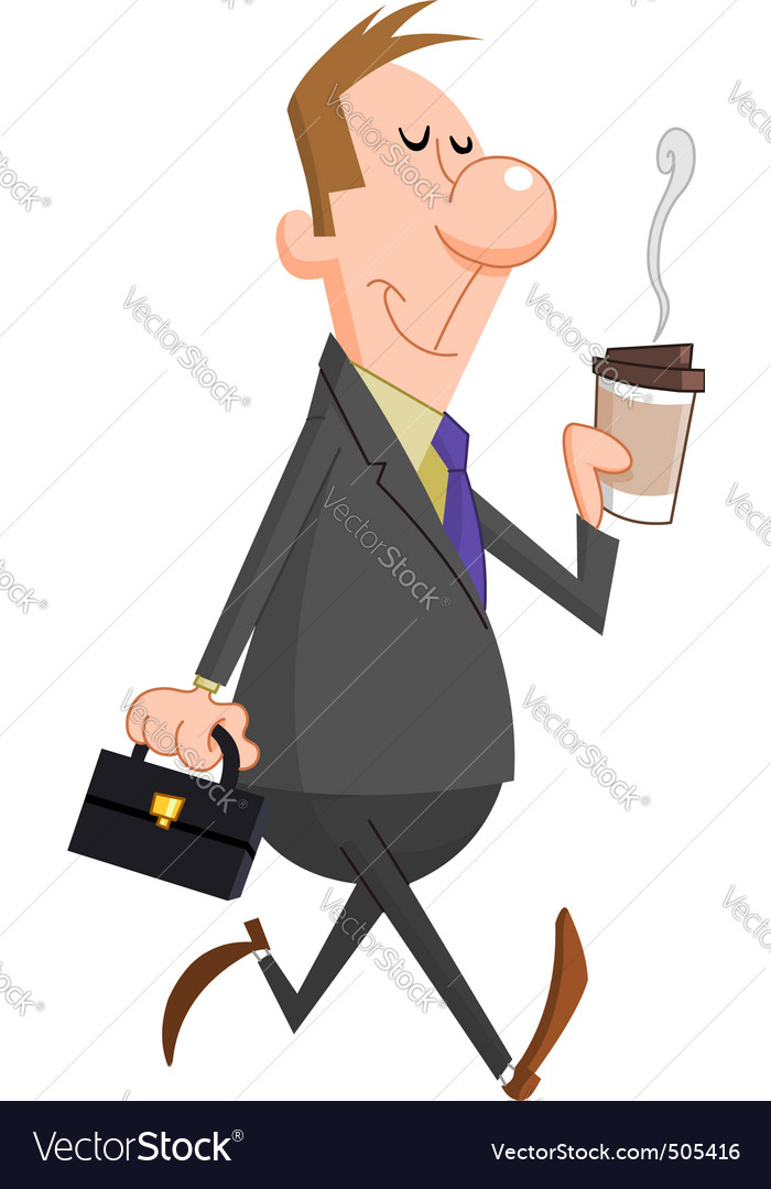 Businessman coffee vector