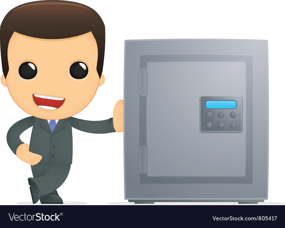 Funny cartoon boss vector