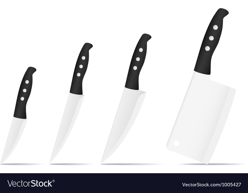Set of knives vector