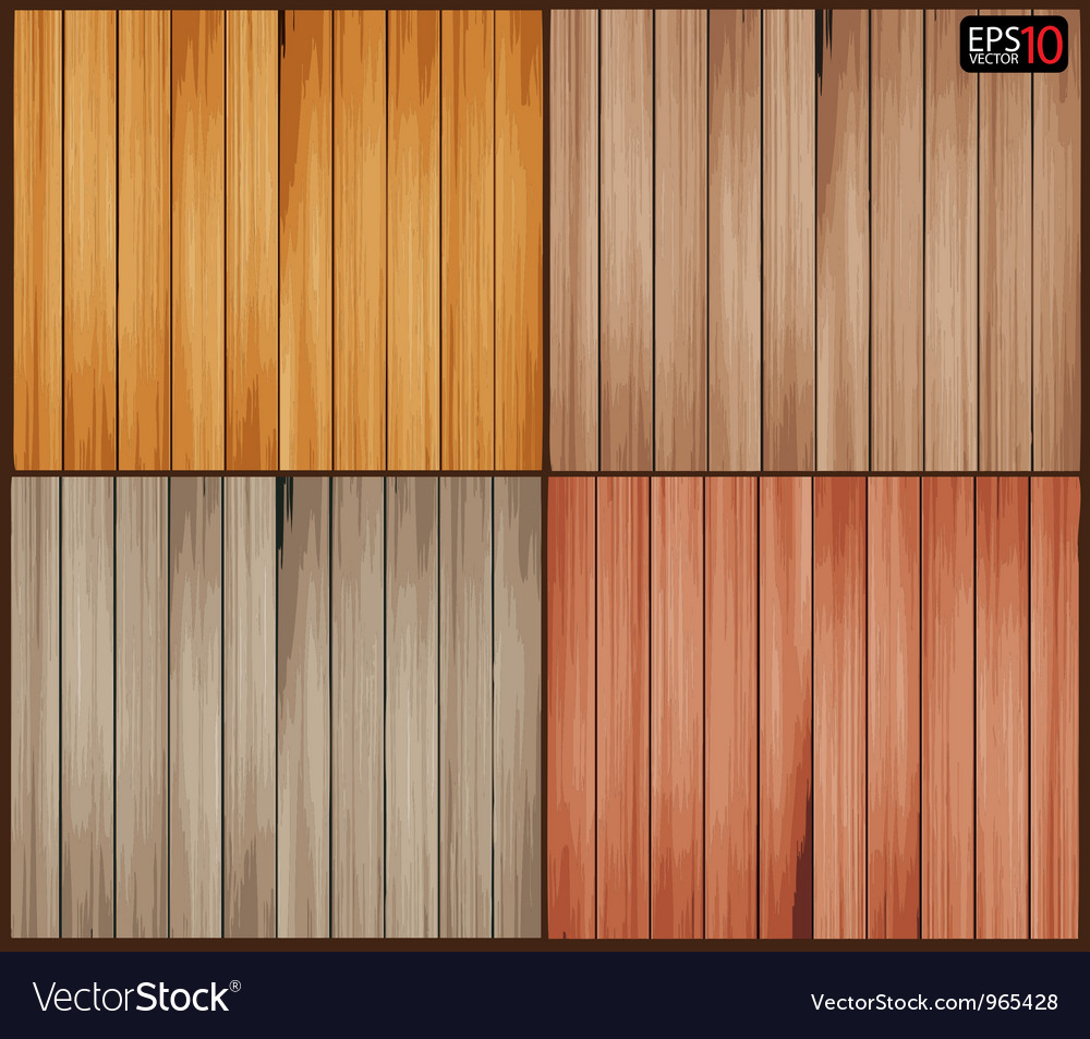 Set of wood background with wooden texture vector