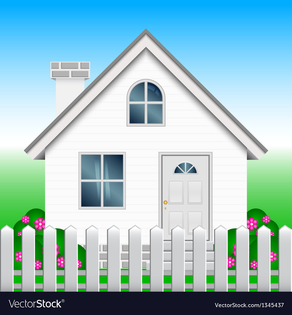 House and garden vector