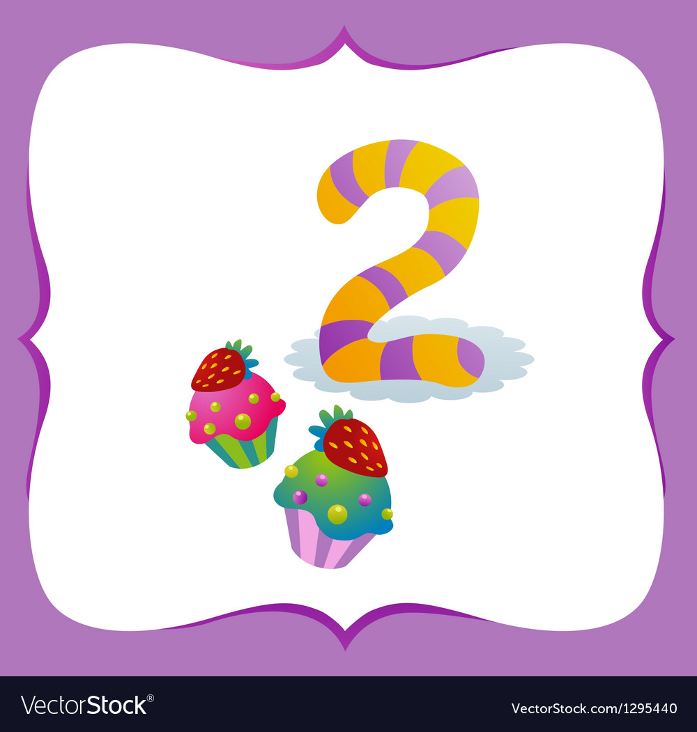 Collection sweet numbers for kids 2 vector