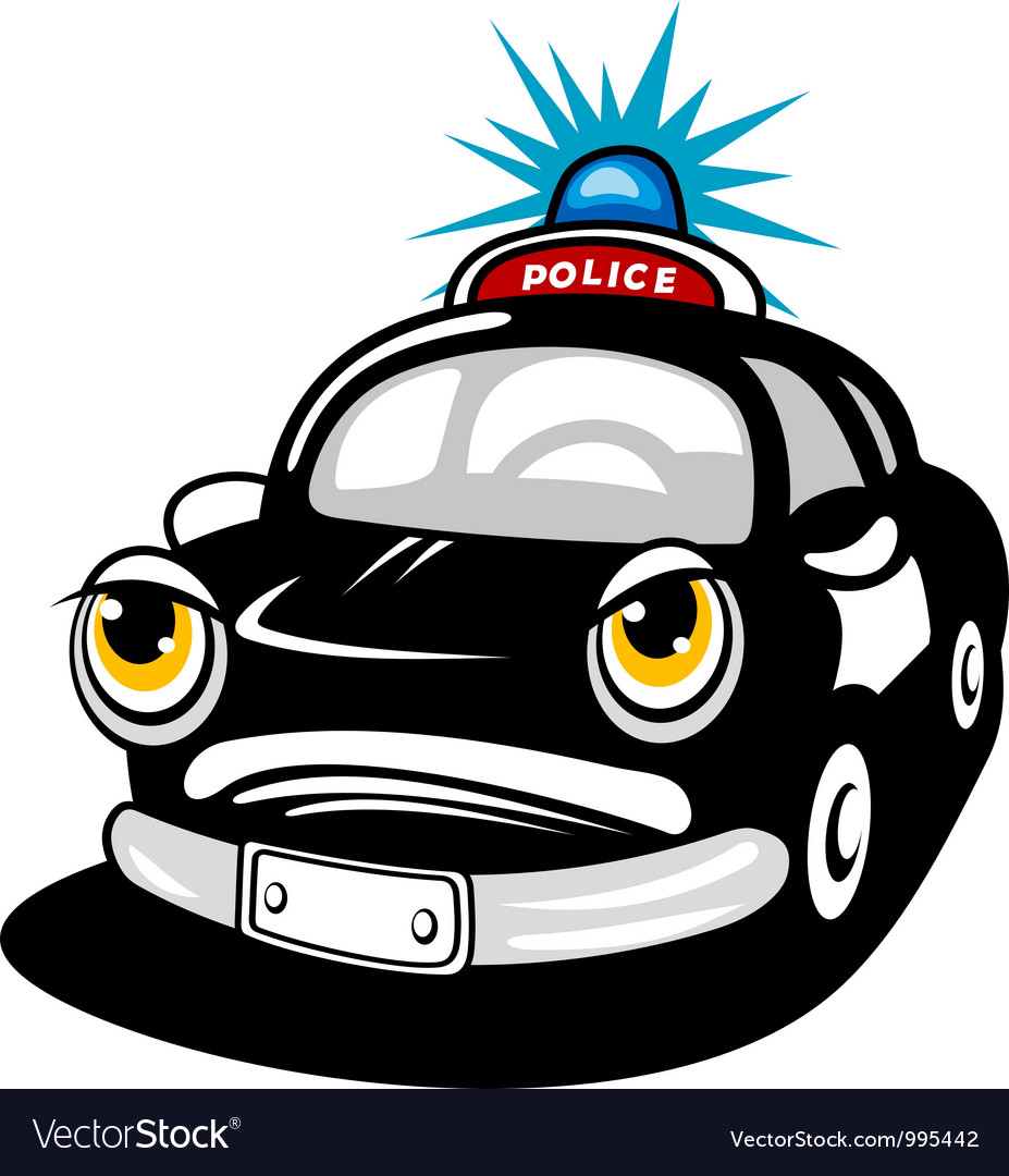 Police car in cartoon style vector