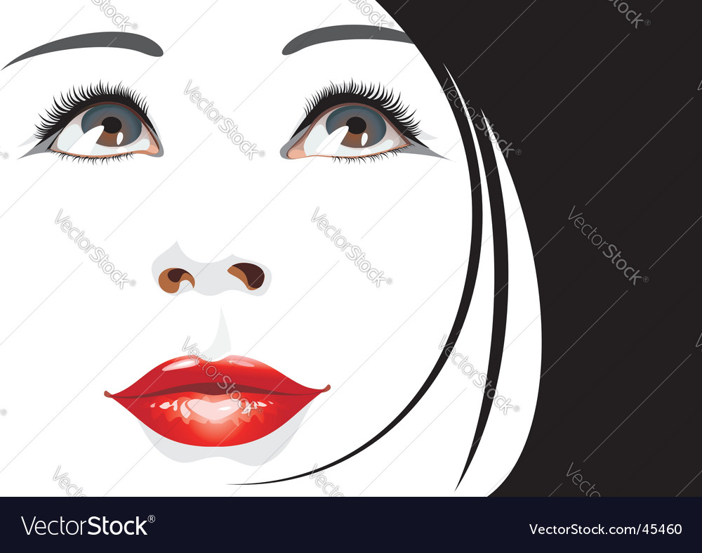 Womans portrait vector