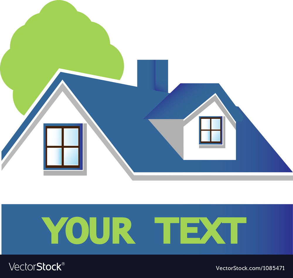 House with tree logo vector