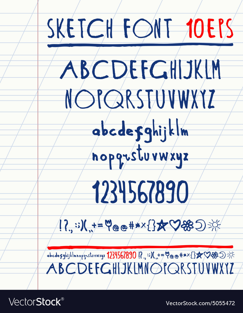 Handwritten english alphabet vector by nastyaaroma - Image ...