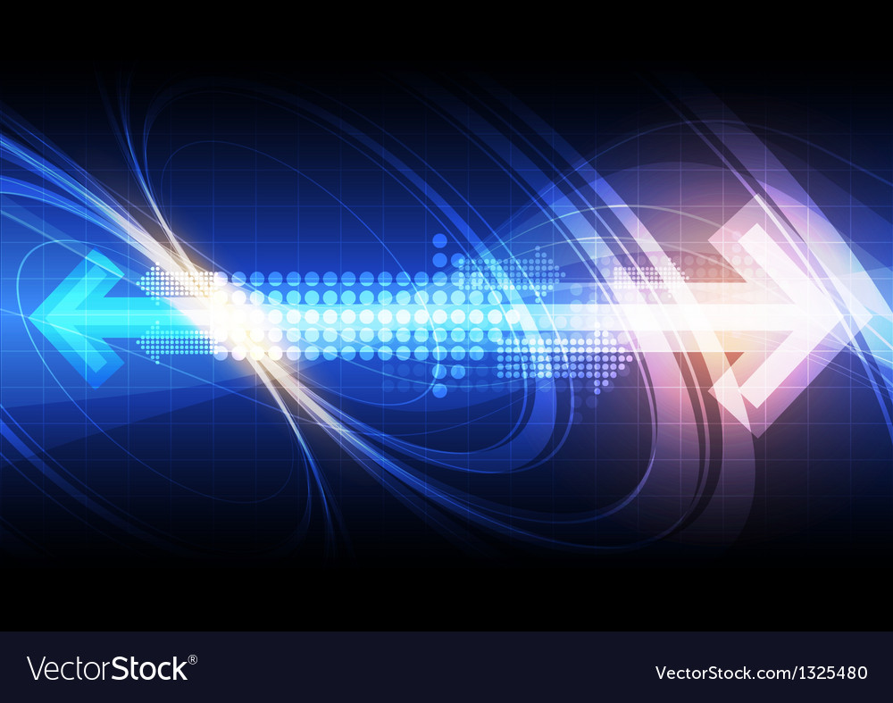Arrow with technology background vector