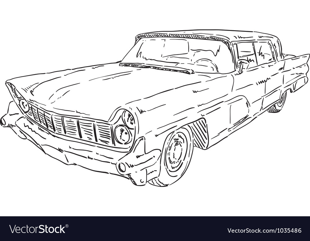 American old car vector