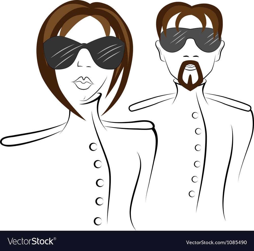 Men and women in uniform