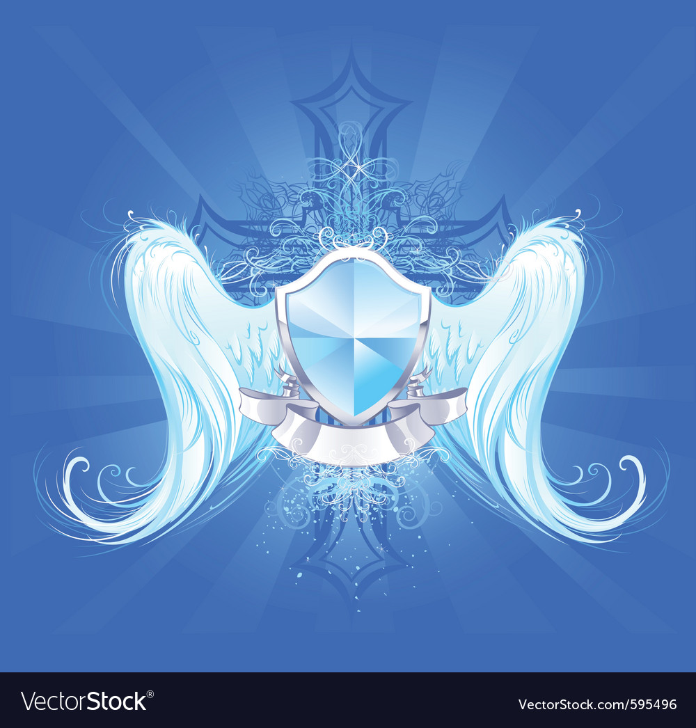 Crystal shield vector
