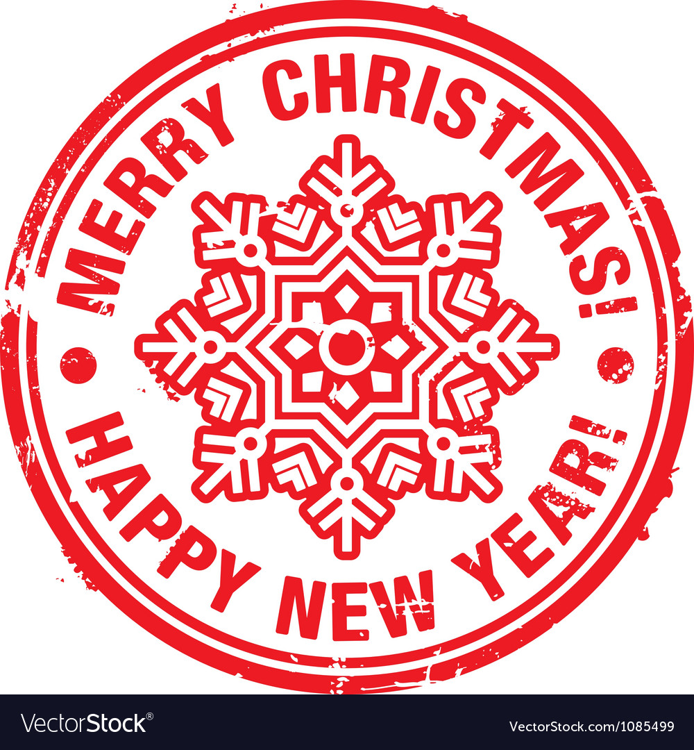 Christmas stamp vector