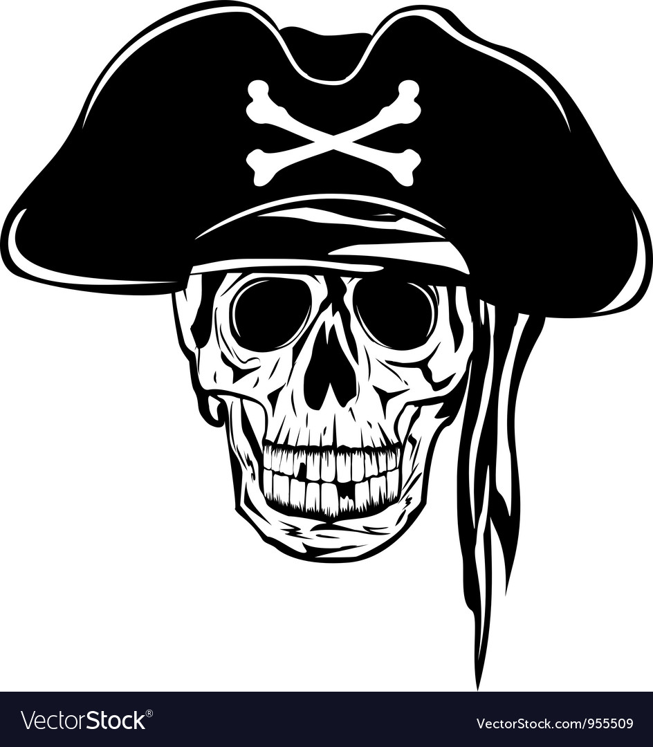 Pirate in hat vector