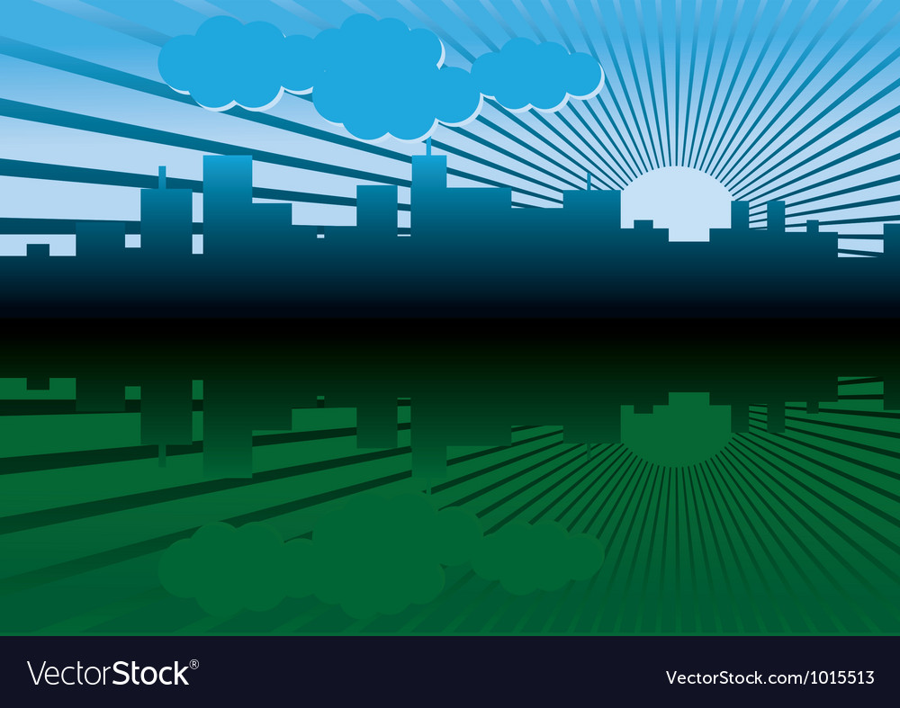 Morning city landscape vector