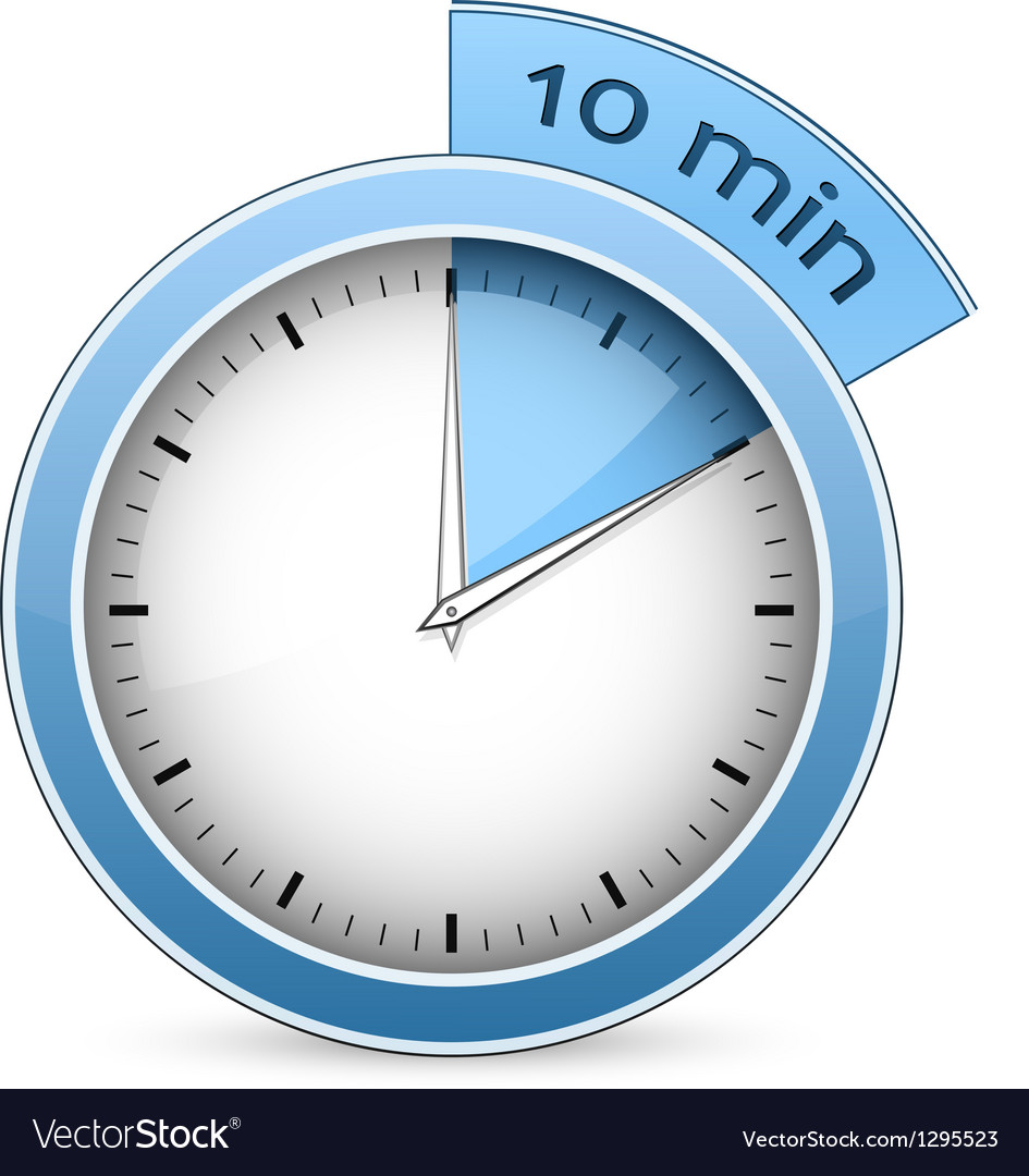 Timer  10 minutes vector