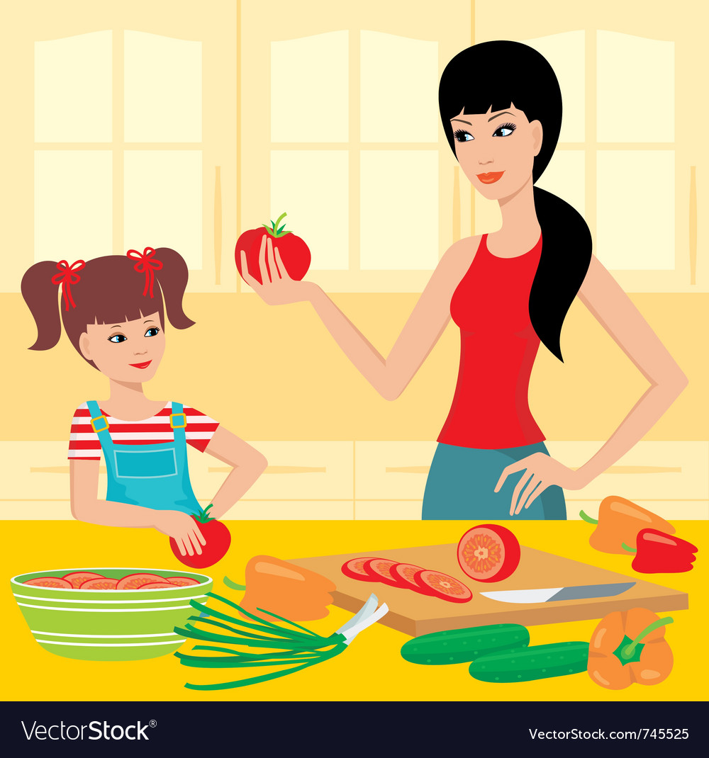 Cooking lessons vector