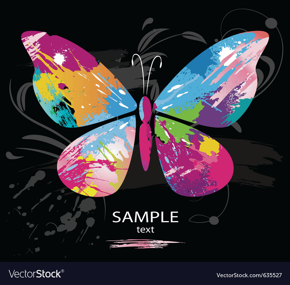Butterfly splashes vector