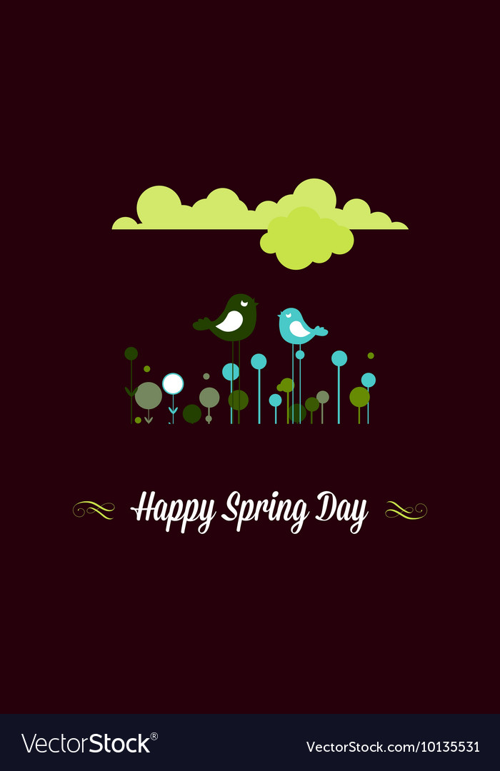 With happy spring and