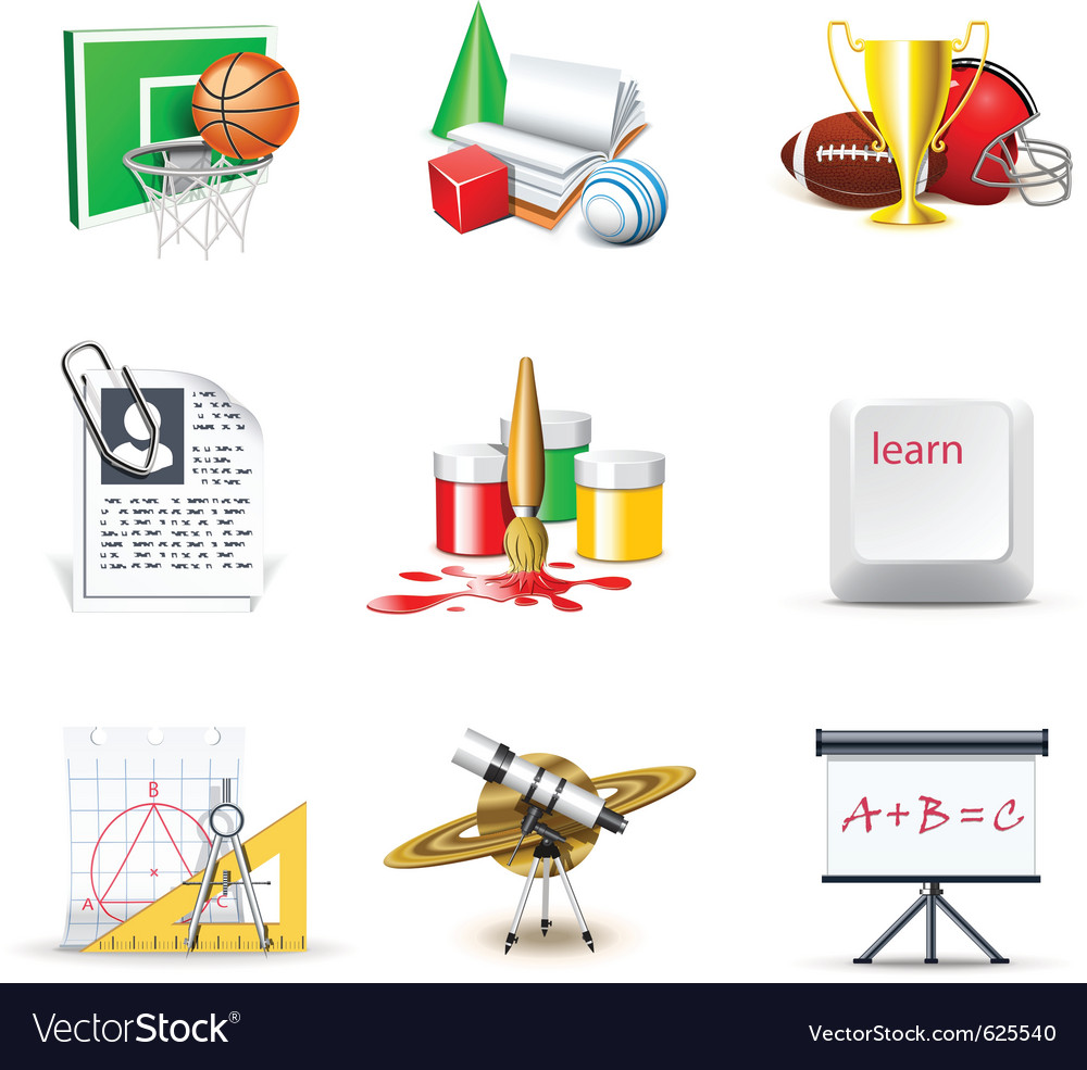 School icons 2  bella series vector