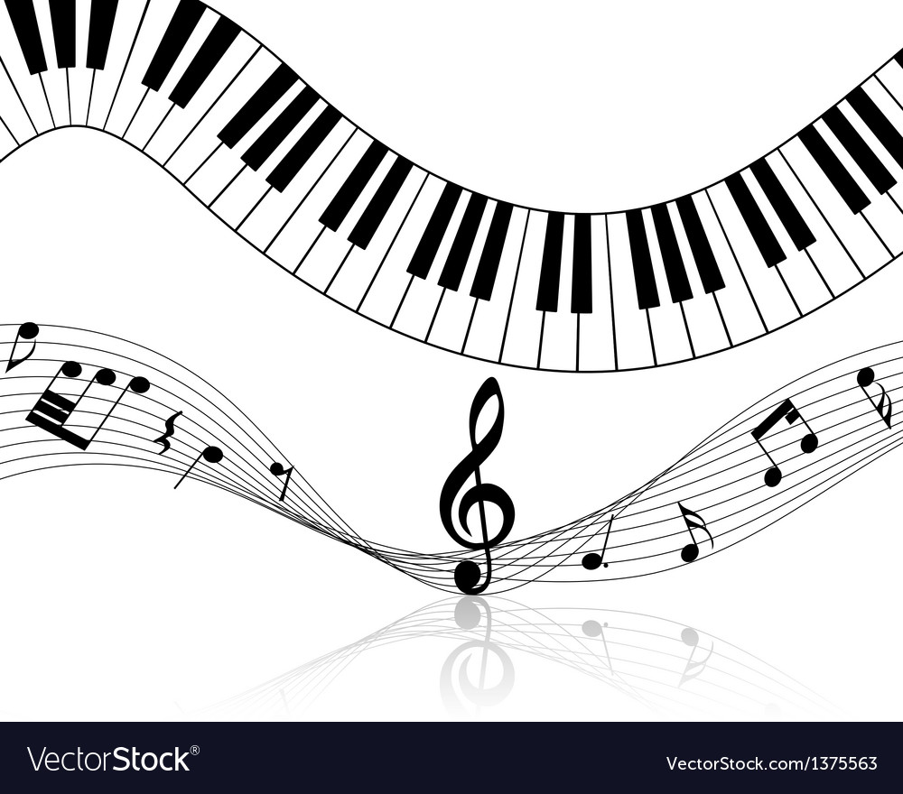 Music staff vector