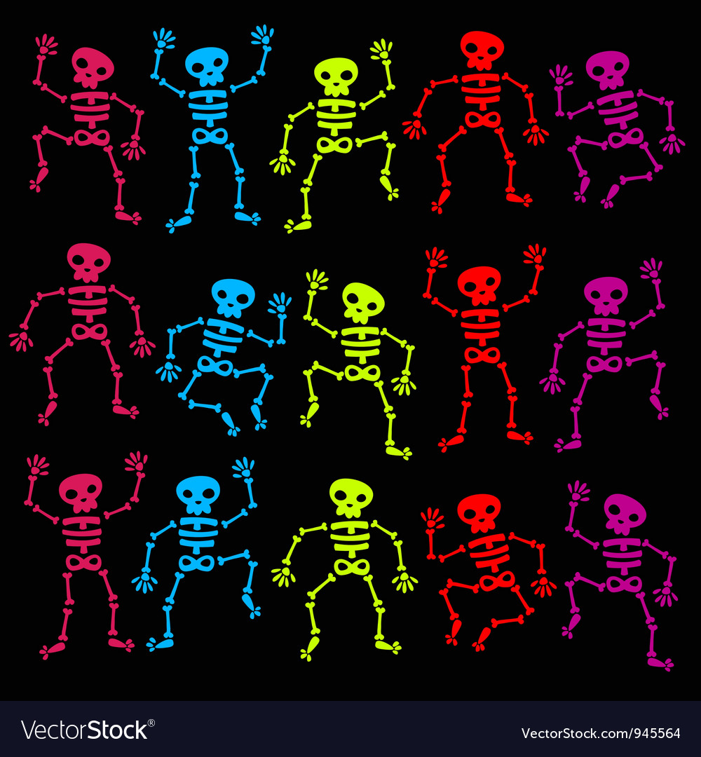 Dancing skeleton vector