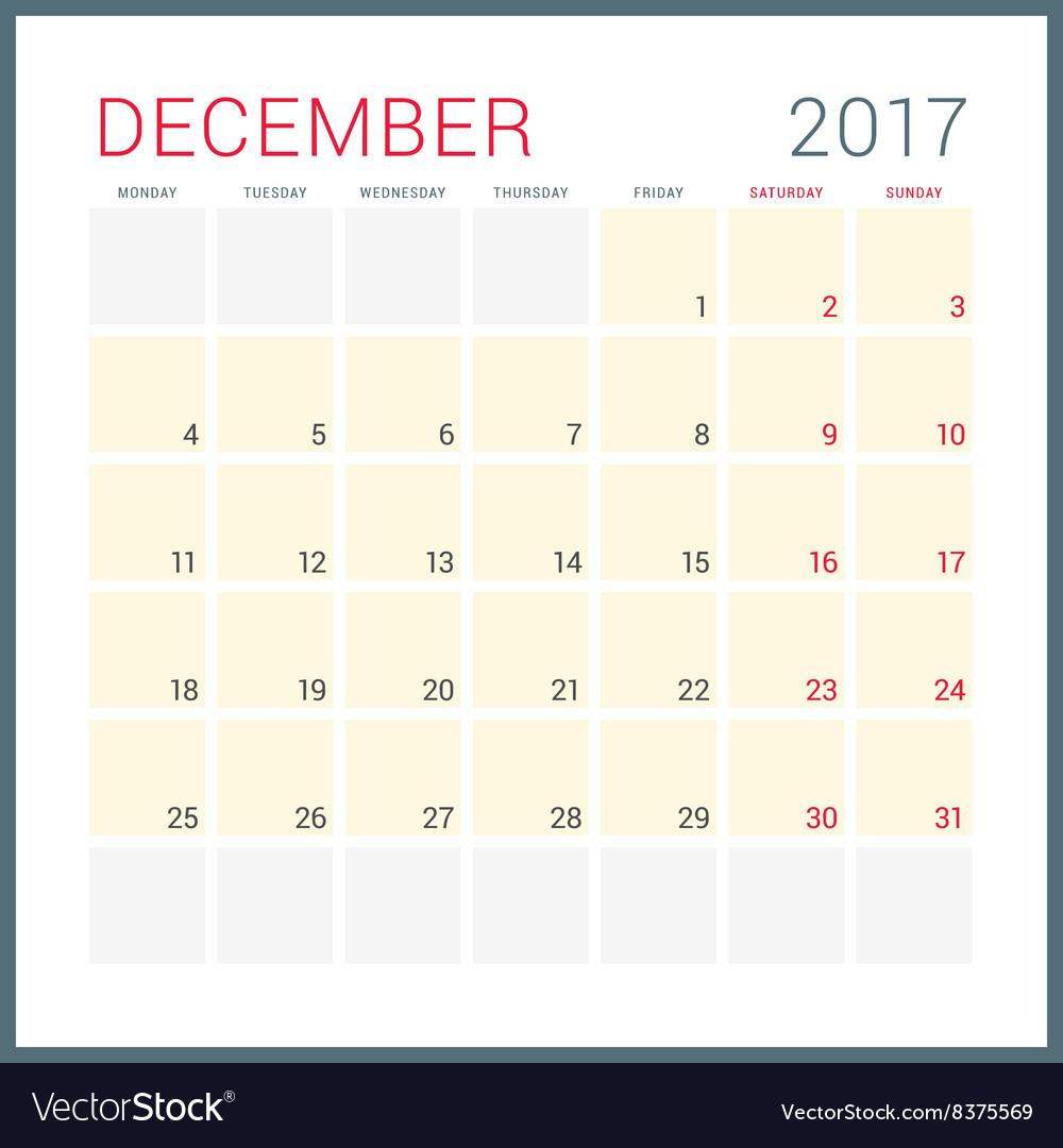 Calendar Planner Vector : Calendar planner for year flat design vector by