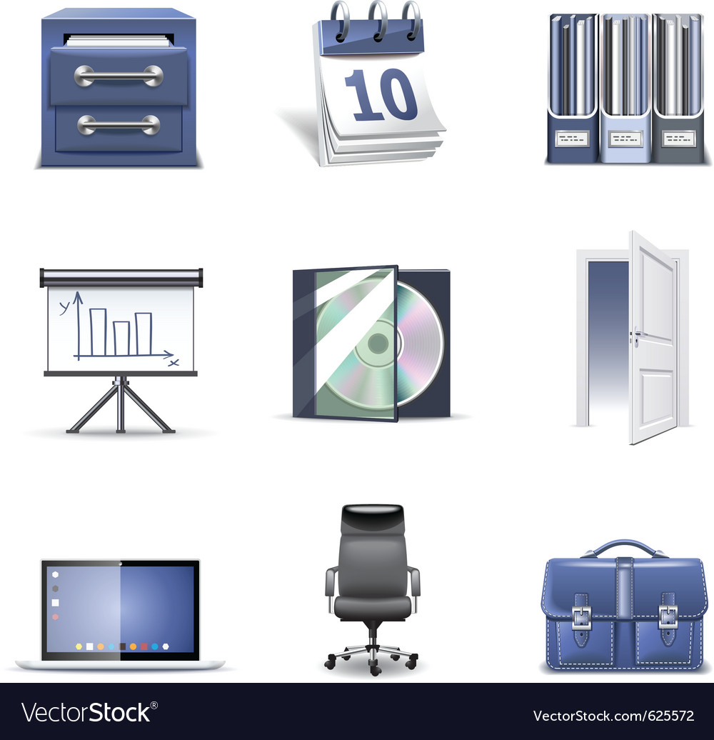Office icons 2  bella series vector
